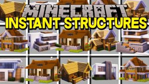 майнкрафт мод instant structures, instant mod
